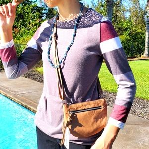 Cross Body Tan Purse with adjustable Strap